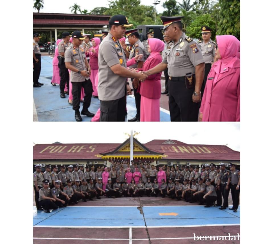 67 Personel Polres Inhu Naik Pangkat