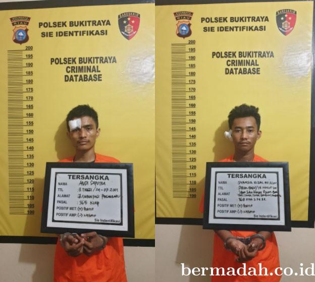 Dua Pelaku Jambret Diamankan Polsek Bukit Raya
