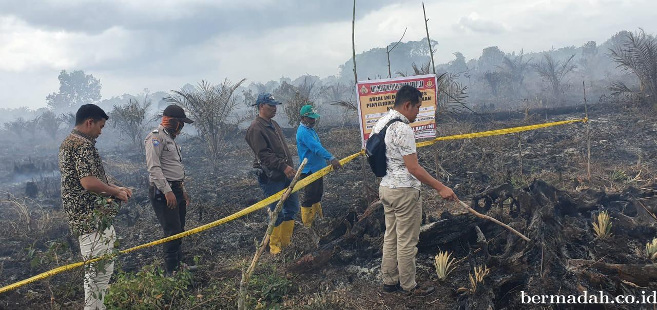 Polsek Sungai Sembilan Amankan Pelaku Pembakar Lahan