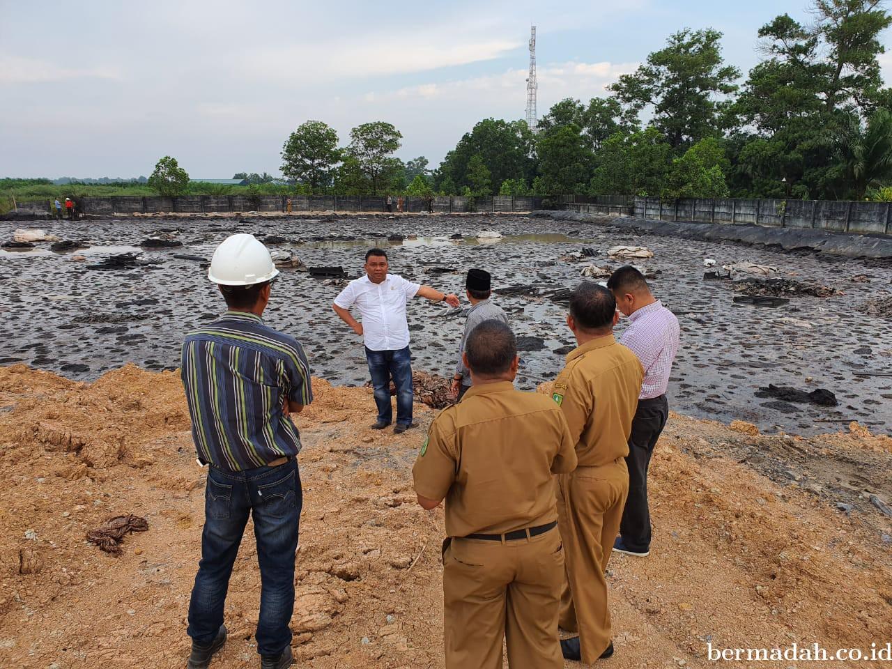 Komisi III DPRD Inhu Temukan Limbah di Sekitar Areal PT BBF