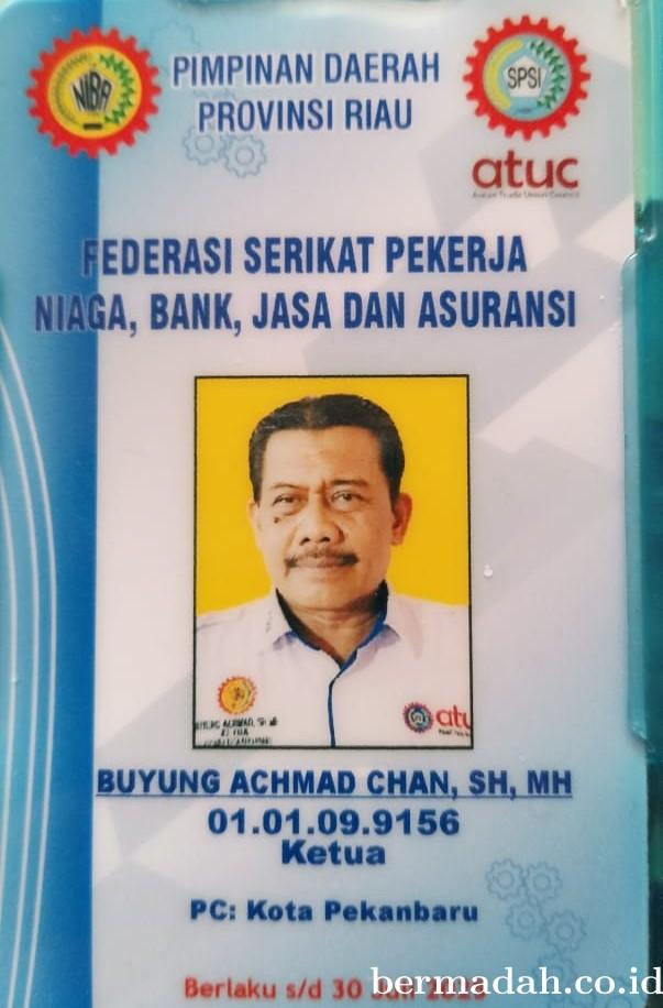 Ketua FSP NIBA KSPSI Kota Pekanbaru Tegaskan Organisasinya Punya Legalitas