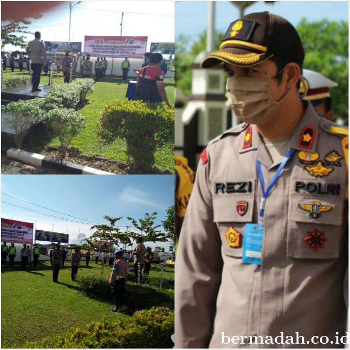 Kapolres Pelalawan AKBP Indra Wijatmiko SIk Pimpin Upacara Sertijab Waka Polres